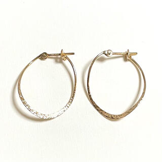 agete - 【美品】メデルジュエリー K10 フープピアス mederu jewelry