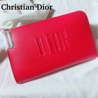 Dior - ディオール レッド ロング ポーチ ノベルティ ノベルティー 化粧ポーチ