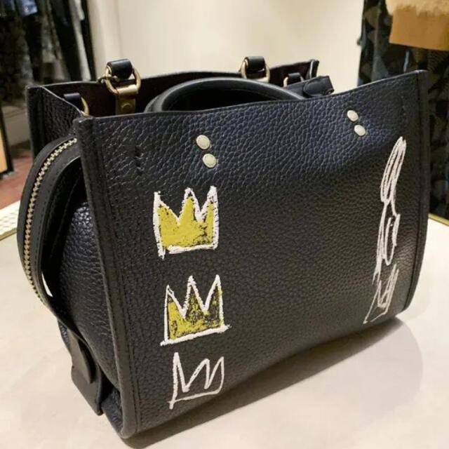 COACH(コーチ)の即購入OK☆新品☆正規品☆COACH✖︎バスキア☆レザー☆トートバック☆ブラック レディースのバッグ(トートバッグ)の商品写真