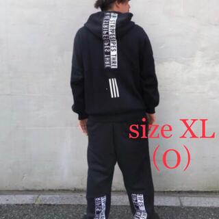 adidas - 新品 adidas アディダス 裏起毛 スウェット上下セット 黒  XL・O
