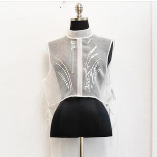 mame - 新品21SSMame♡Floral Jacquard Sheer Vest