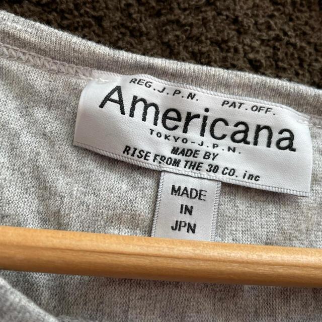 L'Appartement DEUXIEME CLASSE(アパルトモンドゥーズィエムクラス)のSALE/AMERICANA/アメリカーナラグラン美品 レディースのトップス(カットソー(長袖/七分))の商品写真