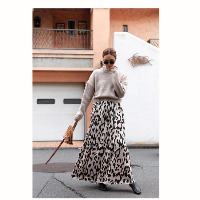 room306 CONTEMPORARY(ルームサンマルロクコンテンポラリー)のsoldout306contemporary アニマル柄 マキシスカート レディースのスカート(ロングスカート)の商品写真
