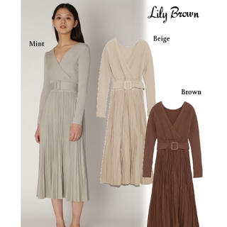 Lily Brown - lily brown カシュクールニットワンピース