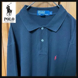 ポロラルフローレン(POLO RALPH LAUREN)の【定番】ラルフローレン ポロシャツ 古着 90s ストリート 大きめ 刺繍 長袖(ポロシャツ)