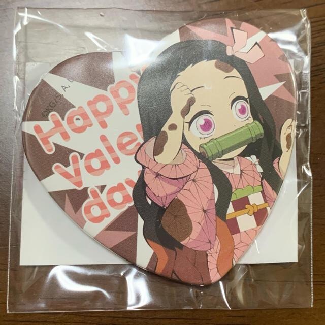 バレンタイン ハート 缶バッチ 禰豆子 エンタメ/ホビーのおもちゃ/ぬいぐるみ(キャラクターグッズ)の商品写真