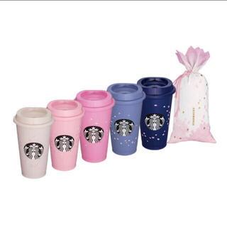 スターバックスコーヒー(Starbucks Coffee)のマレーシア限定 スターバックス 桜 2021 リユーサブルカップ 5個セット(グラス/カップ)