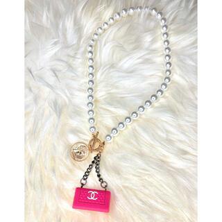 ハンドメイド Barbie bag ネックレス♪ ④(キーホルダー)