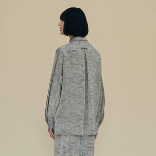 STUDIOUS - ETHOSENS エトセンス wave pattern shirt