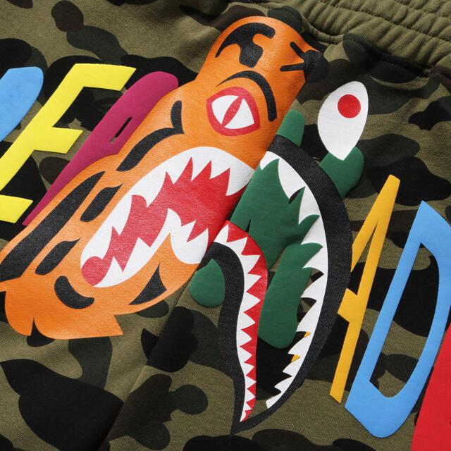 A BATHING APE(アベイシングエイプ)のBAPE READYMADE TIGER SHARK WIDE SHORTS メンズのパンツ(ショートパンツ)の商品写真