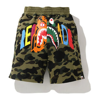 A BATHING APE - BAPE READYMADE TIGER SHARK WIDE SHORTS