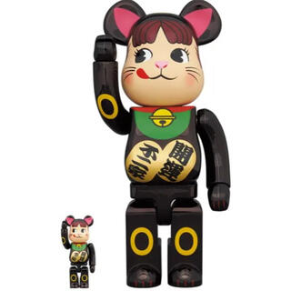 MEDICOM TOY - BE@RBRICK 招き猫 ペコちゃん 黒メッキ100% & 400%