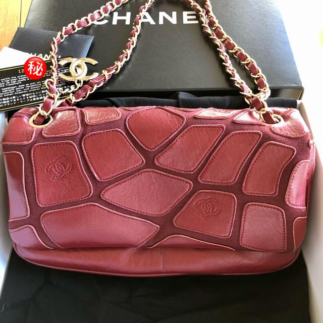 CHANEL(シャネル)のシャネル 激レア チェーンバック レッド レディースのバッグ(ショルダーバッグ)の商品写真