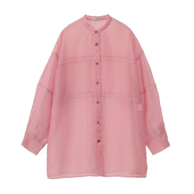 CLANE  シアーシャツ ピンク 新品未使用 クラネ トップス レディースのトップス(シャツ/ブラウス(長袖/七分))の商品写真