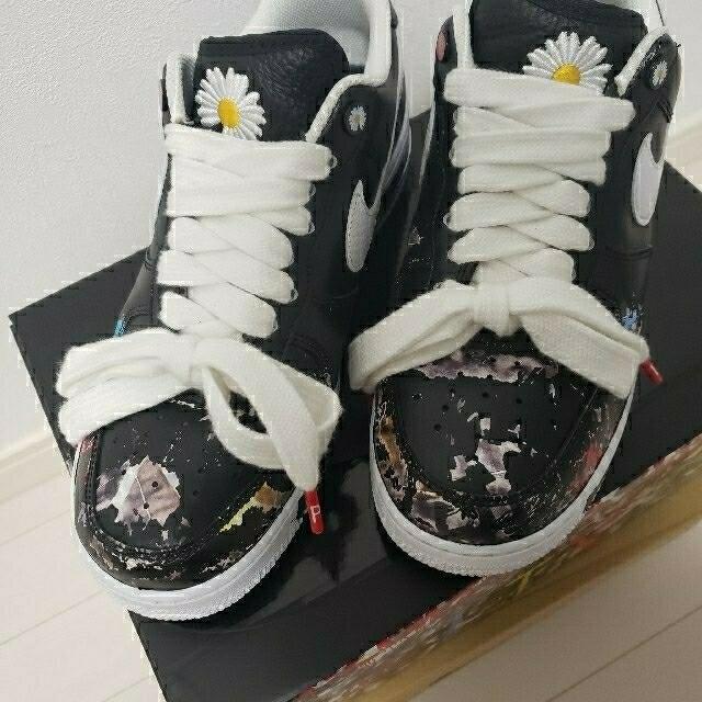 PEACEMINUSONE(ピースマイナスワン)のnike  AirForce1 paranoise パラノイズ黒 27.5cm メンズの靴/シューズ(スニーカー)の商品写真
