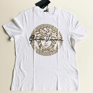 ジャンニヴェルサーチ(Gianni Versace)の【新品未使用】 Versace ヴェルサーチ Tシャツ ロゴ L レア(Tシャツ(半袖/袖なし))