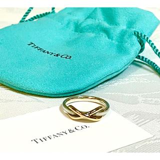 Tiffany & Co. - ティファニー  インフィニティリング 指輪 18Kゴールド×シルバー
