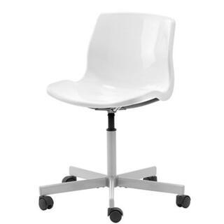 イケア(IKEA)のIKEA  イケア SNILLE 回転チェア ホワイト(デスクチェア)