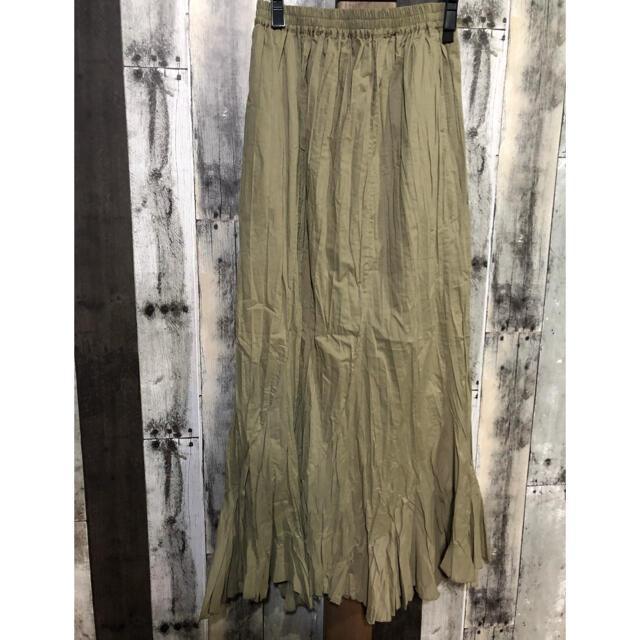 Kastane(カスタネ)のkastane*クリンクルマーメイドスカート*o新作 レディースのスカート(ロングスカート)の商品写真