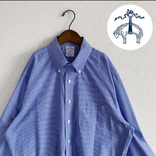 Brooks Brothers - 美品 オーバーサイズストライプシャツ ユニセックス