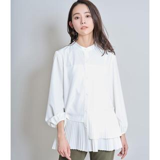 ZARA - ノスタルジア 裾プリーツシャツブラウス オフホワイト
