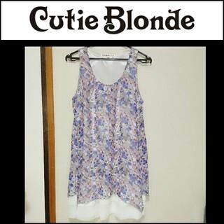 キューティーブロンド(Cutie Blonde)の未使用に近い CutieBlonde キューティーブロンド シフォンワンピース(ひざ丈ワンピース)