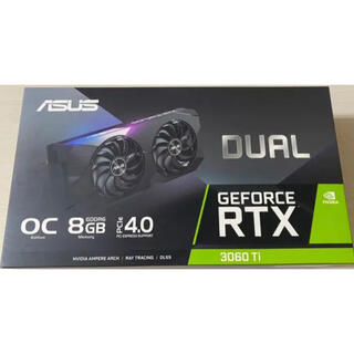 エイスース(ASUS)の新品未開封 ASUS DUAL-RTX3060TI-O8G(PCパーツ)