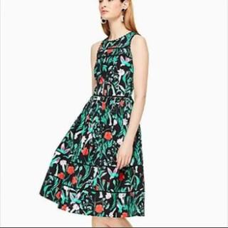 kate spade new york - ★kate spade 花と鳥柄 ワンピース ドレス US2★