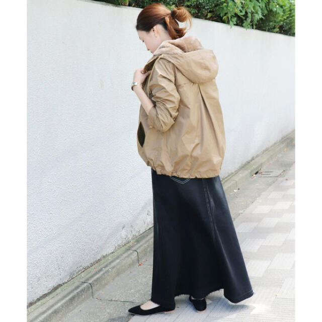 IENA SLOBE(イエナスローブ)のスローブイエナ★ エコファーライナー付きフードミリタリーブルゾン レディースのジャケット/アウター(スプリングコート)の商品写真