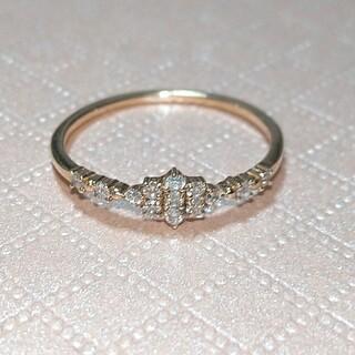 ココシュニック(COCOSHNIK)のK10  YG  ダイヤモンド リング(リング(指輪))