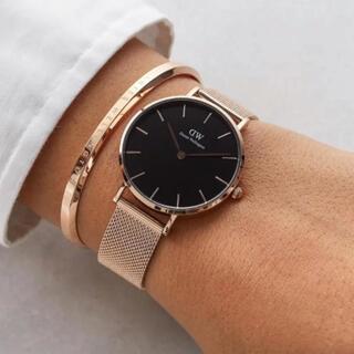 ダニエルウェリントン(Daniel Wellington)の時計 バングル セット ローズゴールド ブラック ダニエルウェリントン(腕時計)
