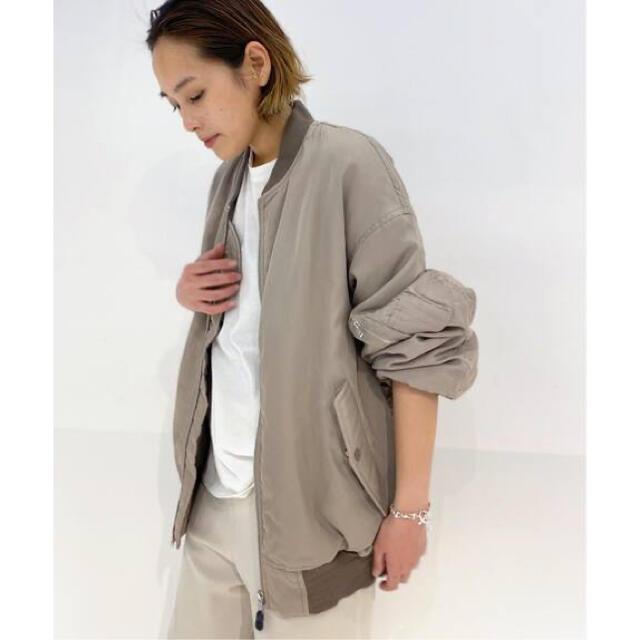 L'Appartement DEUXIEME CLASSE(アパルトモンドゥーズィエムクラス)の3/5までの出品 SCENTOFレーヨンコットンMA-1 レディースのジャケット/アウター(ブルゾン)の商品写真