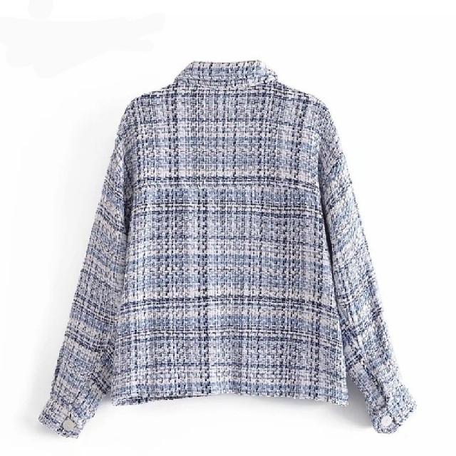 ZARA(ザラ)のツイード シャツ ジャケット 【4size】 レディースのジャケット/アウター(その他)の商品写真