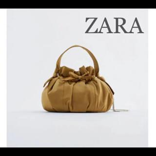 ZARA - 【新品・未使用】ZARA サテン ミニ バケットバッグ