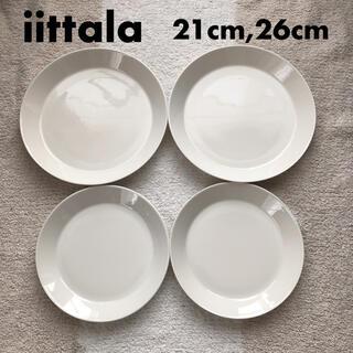 イッタラ(iittala)の美品★iittala teema プレート 21cm 26cm 4枚セット(食器)