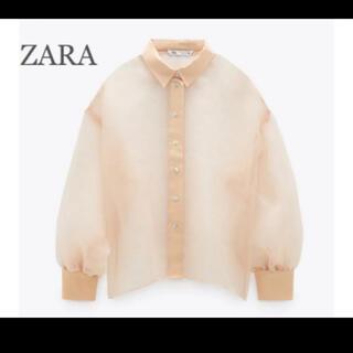 ZARA - 【新品・未使用】ZARA オーガンザ ブラウス XS