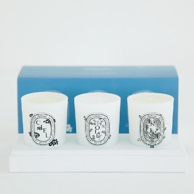 mina perhonen(ミナペルホネン)のminä perhonen × diptyque キャンドル コフレ コスメ/美容のリラクゼーション(キャンドル)の商品写真