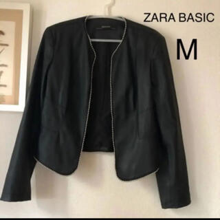 ZARA - ZARA BASIC フェイク レザージャケット Mサイズ ブラック