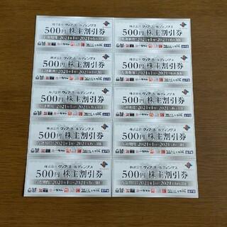 ヴィア株主優待券5000円分です。