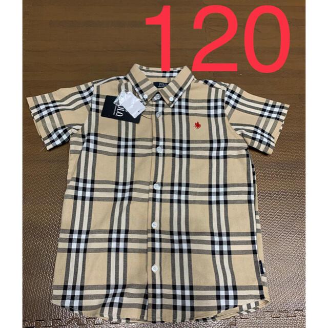 POLO RALPH LAUREN(ポロラルフローレン)のバースデイ ポロ チェックシャツ 120 キッズ/ベビー/マタニティのキッズ服男の子用(90cm~)(Tシャツ/カットソー)の商品写真