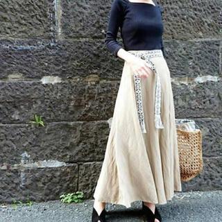 Mila Owen - 《新品タグ付き》ミラオーウェン トライバルベルト付きマキシフレアスカート