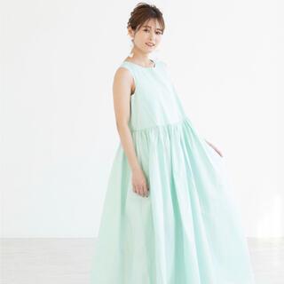 mite original flare dress ミント(ロングワンピース/マキシワンピース)