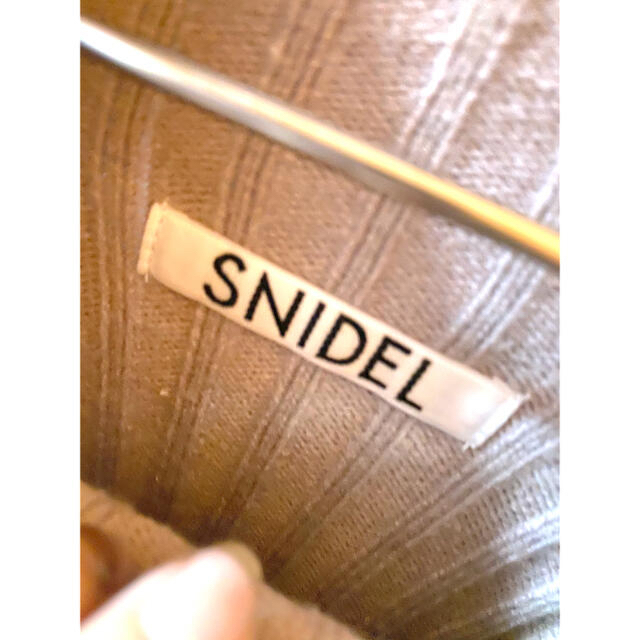 snidel(スナイデル)のsnidel SNIDEL スナイデル ニットワンピース ピンク レディースのワンピース(ひざ丈ワンピース)の商品写真