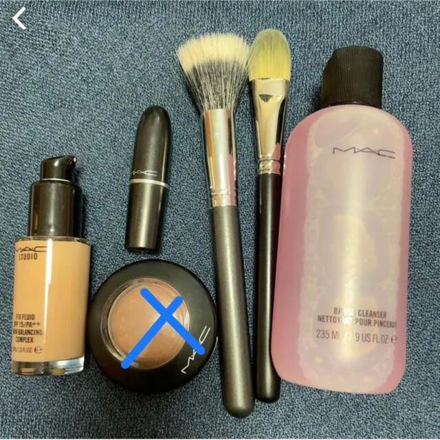 MAC(マック)のMAC ファンデーション 口紅 ブラシセット コスメ/美容のベースメイク/化粧品(その他)の商品写真