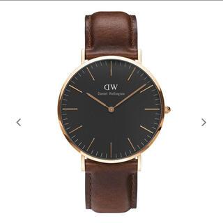 ダニエルウェリントン(Daniel Wellington)のDW 腕時計 ブラックアンドブラウン(腕時計)
