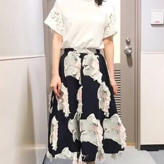 UNITED ARROWS - AKIRA NAKA フラワージャガードスカート