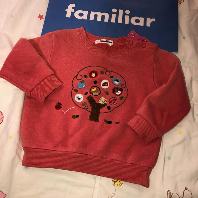 familiar(ファミリア)のファミリア  トレーナー サーモンピンク 80 familiar キッズ/ベビー/マタニティのベビー服(~85cm)(トレーナー)の商品写真