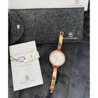 ダニエルウェリントン(Daniel Wellington)のBLACK BY BLUE BRAVE レディース腕時計 美品(腕時計)