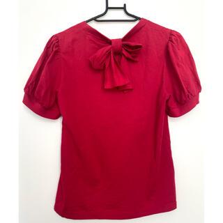 ジェーンマープル(JaneMarple)のジェーンマープル バックリボンカットソー janemarple(Tシャツ(半袖/袖なし))