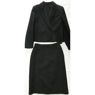 スタンレー(Stanley)の黒のスーツ 9号サイズ 毛100% STANLEY(礼服/喪服)